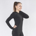 Warm long sleeve shirt Basic black