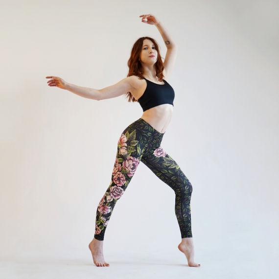 Leggings with a floral motif