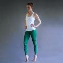 Leggings Botanik grün-weiß