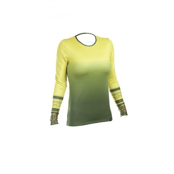 Bluzka Kayan zielono-żółta