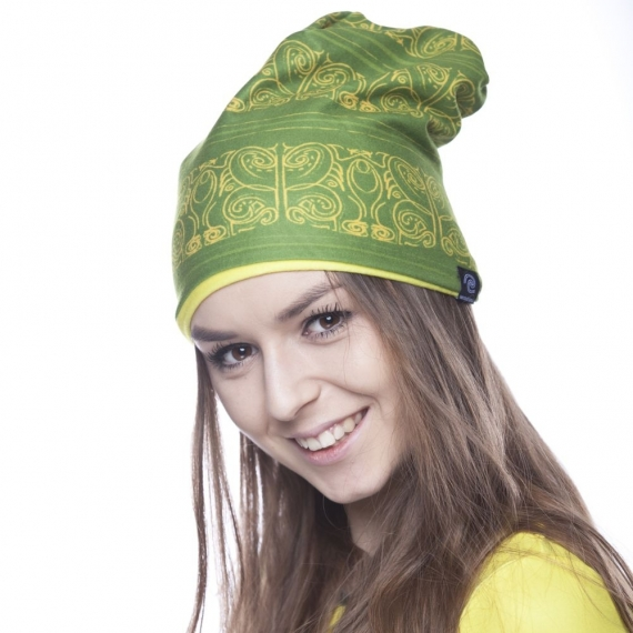 Czapka Kayan zielono-żółta
