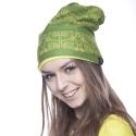 Mütze Kayan grün-gelb