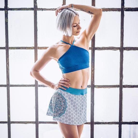 Spódniczka z szortami Merdeka niebiesko-biała